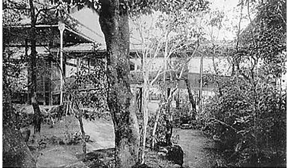 南庭九霞渓より吐雲橋を望む