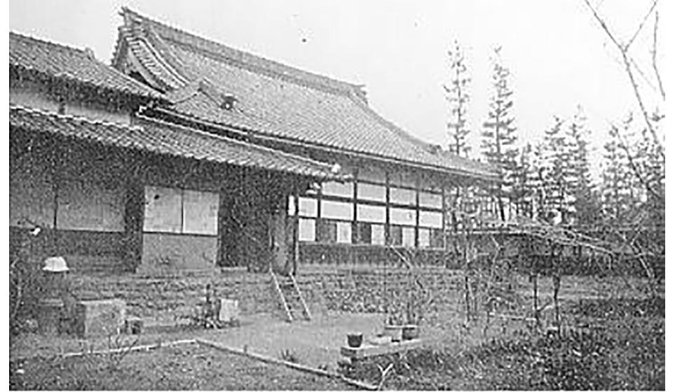 禅堂・今の開山堂付近にあった、昭和に移転